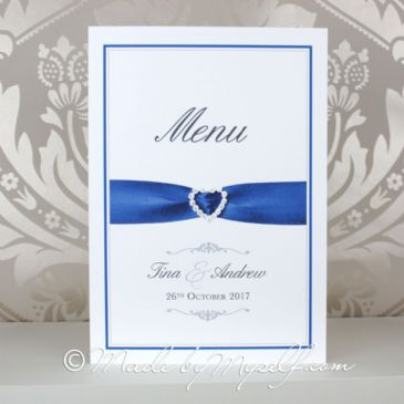Printed Ribbon Heart  Menu